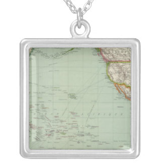 Pacific Ocean 8 Silver Plated Necklace