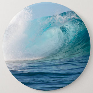 Pacific ocean big wave breaking button