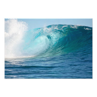 Pacific ocean big wave breaking photo print