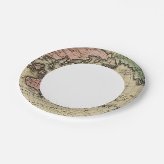 Pacific Ocean, British Islands Paper Plate