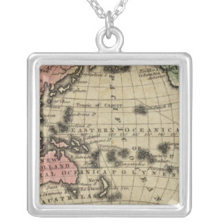 Pacific Ocean, British Islands Silver Plated Necklace
