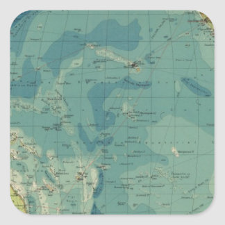 Pacific Ocean cables, wireless stations Square Sticker