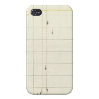 Pacific Ocean Engraved Map iPhone 4/4S Cases