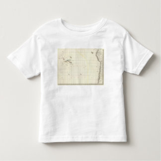 Pacific Ocean Engraved Map Toddler T-Shirt