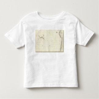 Pacific Ocean Engraved Map Tshirt