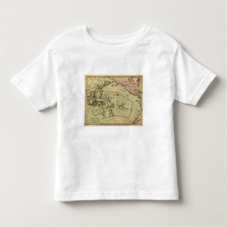 Pacific Ocean Hand Colored Atlas Map Toddler T-Shirt