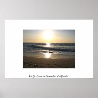 Pacific Ocean in November.  California Poster