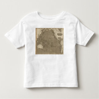Pacific Ocean Map by Arrowsmith Toddler T-Shirt