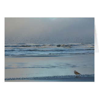 Pacific Ocean Morning Blues Greeting Card