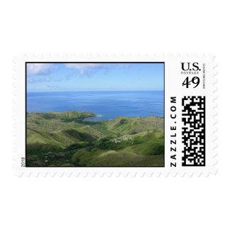Pacific Ocean Overlook Island of Guam Stamps