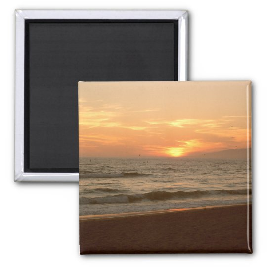 Pacific Ocean Sunset Magnet