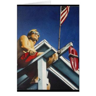 Pacific Patriot painting by Julie Ann Stricklin Card