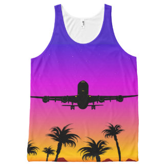 Pacific Plane All-Over Print Tank Top