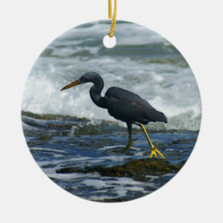 Pacific Reef Heron Christmas Ornaments