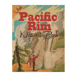 Pacific Rim Canada National Park vacation Poster Wood Canvas
