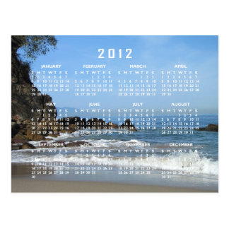 Pacific Rolling In; 2012 Calendar Post Cards