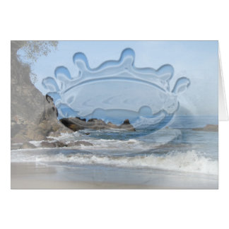 Pacific Rolling In; Customizable Greeting Card