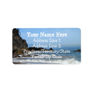 Pacific Rolling In Address Label