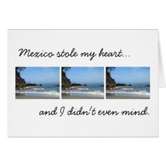 Pacific Rolling In; Mexico Souvenir Greeting Card