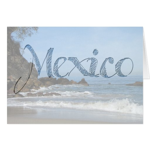 Pacific Rolling In; Mexico Souvenir Card
