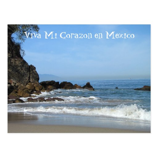 Pacific Rolling In; Mexico Souvenir Post Card