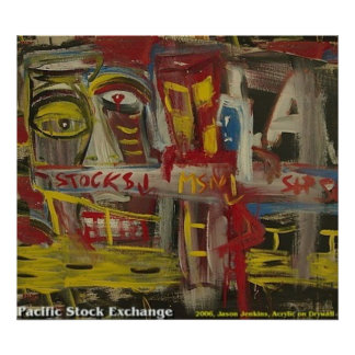 Pacific Stock Exchange Poster