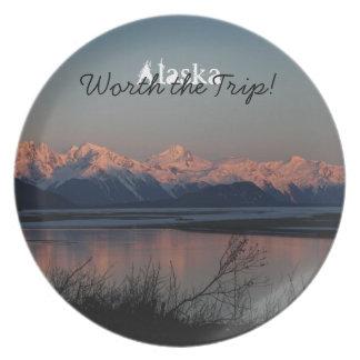 Pacific Sunset; Alaska Souvenir Plate