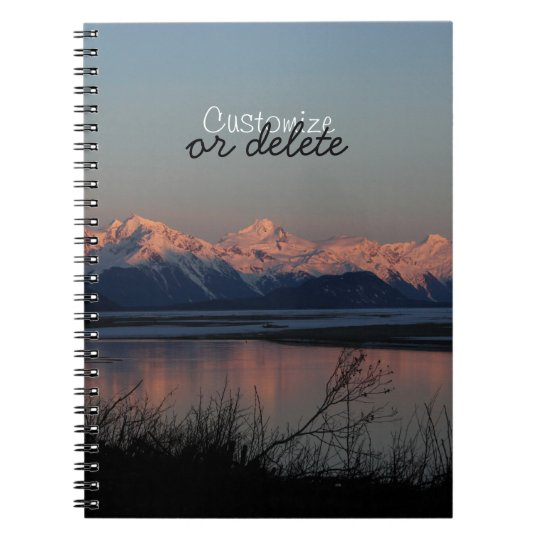 Pacific Sunset; Customisable Notebooks