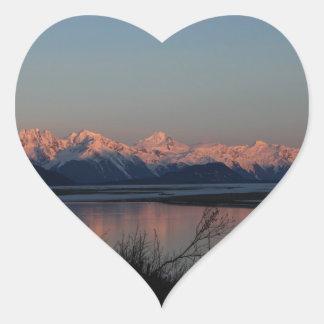 Pacific Sunset Heart Sticker