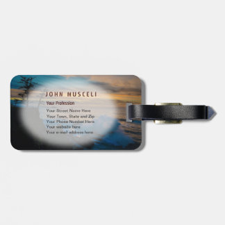 Pacific Sunset With Crashing Wave Shore Acres Tags For Luggage