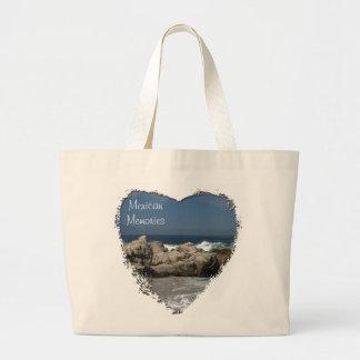 Pacific Vista; Mexico Souvenir Jumbo Tote Bag