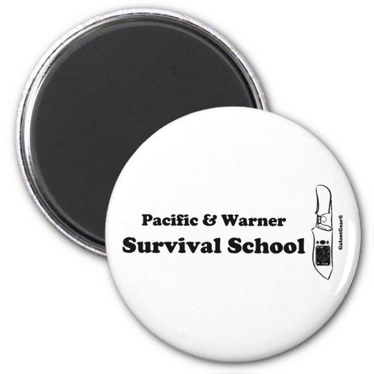 Pacific & Warner Survival School 6 Cm Round Magnet