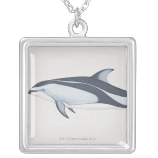 Pacific White-Sided Dolphin Silver Plated Necklace