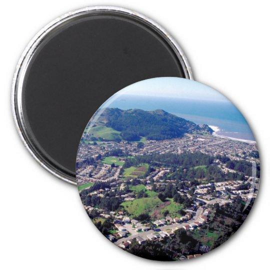 Pacifica California 6 Cm Round Magnet