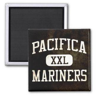 Pacifica Mariners Athletics Square Magnet