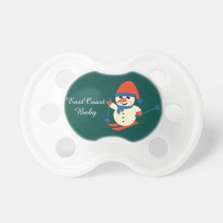Pacifier East Coast baby rustic  Christmas snowman