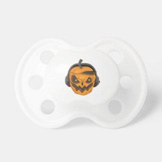 Pacifier Halloween Design Pumpkin orange