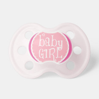 Pacifier pink for babygirl