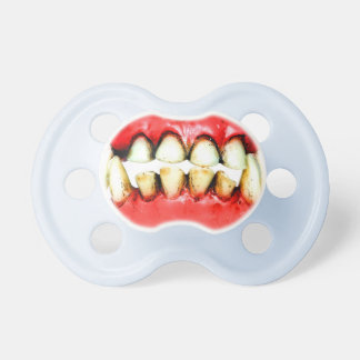 pacifier, tooth, vampire dummy
