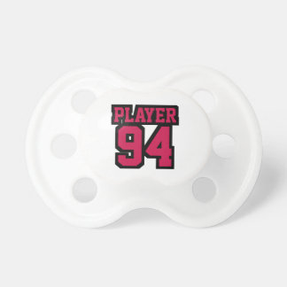 Pacifier WHITE CRIMSON BLACK Football Jersey Baby