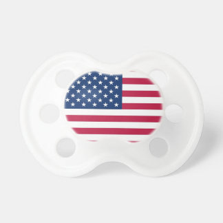 Pacifier with federal flag of U.S.A.