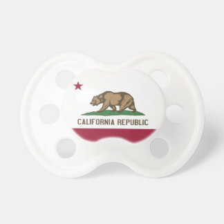 Pacifier with flag of California, U.S.A.