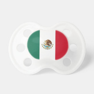 Pacifier with flag of Mexico