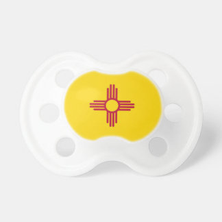 Pacifier with flag of New Mexico, U.S.A.