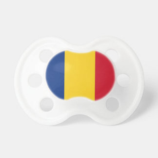 Pacifier with flag of Romania