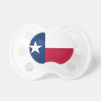 Pacifier with flag of Texas, U.S.A.