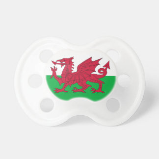 Pacifier with flag of Wales