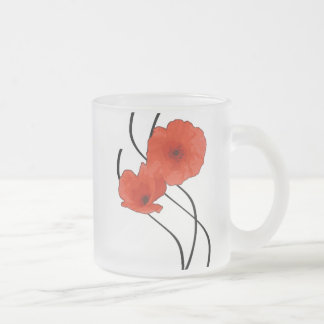 Pack glass frozen Coquelicots Abstract Frosted Glass Coffee Mug