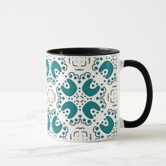 Pack MUG Jimette Design made of green on white