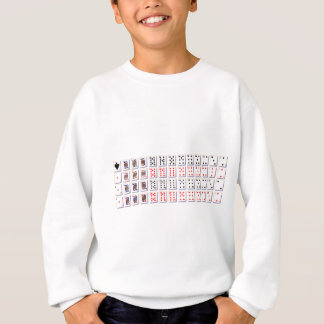 Pack of Cards On White Sweatshirt